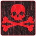 Red Pirate Skull Crossbones
