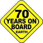 70 years on board Earth! 70th Birthday Gifts.