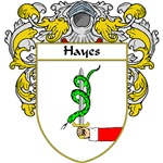 Hayes Coat of Arms (Mantled)