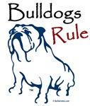Bulldog Rule Blue Logo