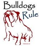 Bulldogs Rule Red Logo