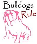 Bulldogs Rule Pink Logo