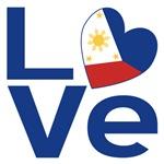 Filipino Flag Blue LOVE