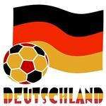 Deutschland Soccer Ball Flag