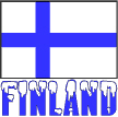 Flag of Finland & Snow Word