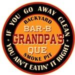 Grandpa's Backyard Bar-b-que Pit T-shirts Gifts