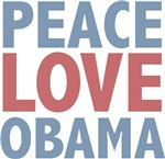 Peace Love Obama President T-shirts Gifts