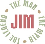 Jim the Man the Myth the Legend T-shirts Gifts