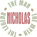 Nicholas the Man the Myth the Legend T-shirts Gift