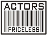 Actors Priceless Bar Code T-shirts Gifts