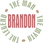 Brandon the man the myth the legend T-shirts Gifts