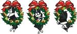 Boston Terriers in Wreaths