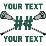Personalized Lacrosse Green