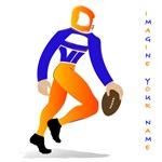 David football player blue and orange