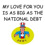 i love you national debt joke