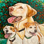 Lab and Jack Russels