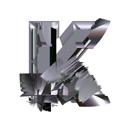 Heavy Metal initial letter K monogram