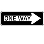 One Way Traffic Sign T-shirts and Gifts