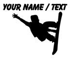 Custom Snowboarder Silhouette