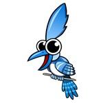 Cartoon Blue Jay