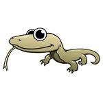 Cartoon Komodo Dragon