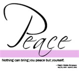 Peace - Emerson Quote