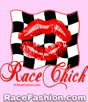 Kiss on Racing Flag