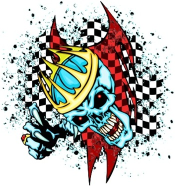 Copy of Colorful Racing Skull