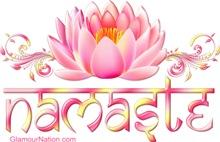Namaste Pink Lotus Flower