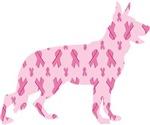 German Shepherd Pink Ribbon Cancer Awareness