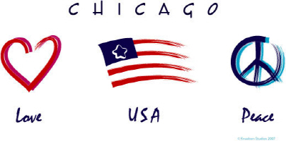 Chicago Love-USA-Peace
