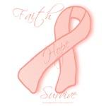 Peach Awareness Ribbon