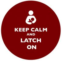 Keep Calm and Latch On Brown