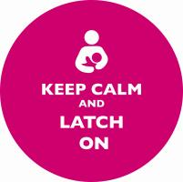 Keep Calm and Latch On Pink
