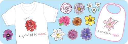 Little Sprouts Birthday Flower Shirts