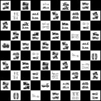 Vintage Auto Checkerboard