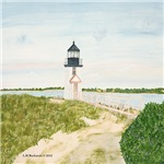 Path to Brant Point Light