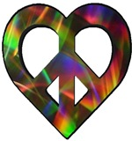 Abstract Light Peace Heart
