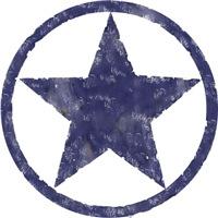 Distressed blue star