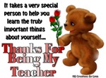 Teacher Appreciation Section