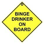 Binge drinker on board