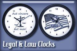 Legal Occupations Wall Clocks