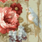 Vintage Floral Wallpaper Bird