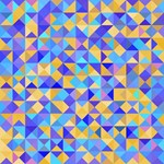 Blue Gold Abstract Geometric