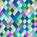 Pink Green Geometric Pattern