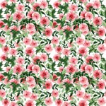 Cute Pink Watercolor Floral Pattern