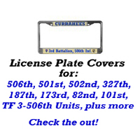 License Plate Covers: 506th, 501st, 502nd, 327th,