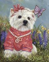 Westie Flower Child