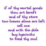 Hyacinths to feed thy soul