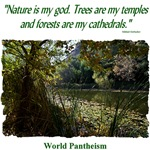 'Nature is my god.' quotation - Pond